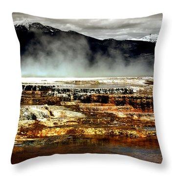 The Beauty Of Yellowstone Throw Pillow by Ellen Heaverlo