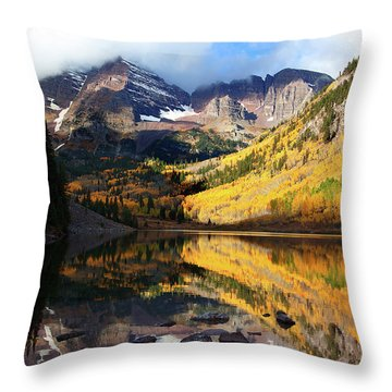 The Bells Are Ringlng Throw Pillow by Jim Garrison