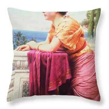 The Belvedere Throw Pillow by John William Godward