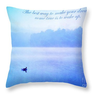 The Best Way Throw Pillow by Darren Fisher