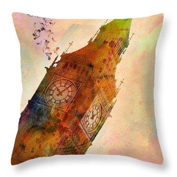 The Big Ben Throw Pillow by Mark Ashkenazi
