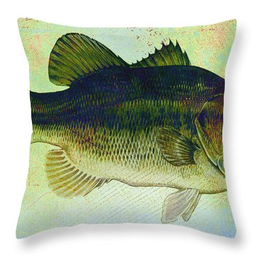 The Big Fish Throw Pillow by Bill Cannon