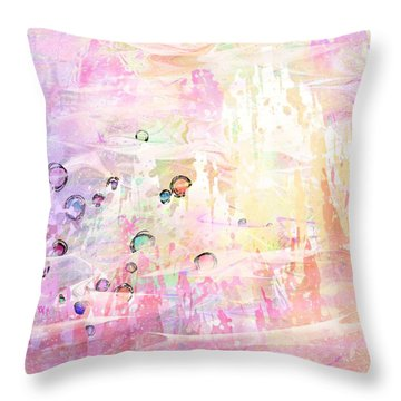 The Big Rock Candy Mountains Throw Pillow by Rachel Christine Nowicki