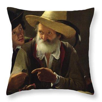 The Bird Seller Throw Pillow by Pensionante de Saraceni