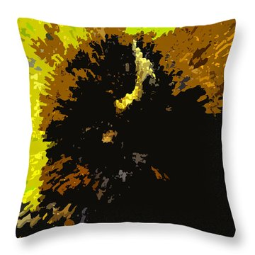 The Bison Hunt Throw Pillow by David Lee Thompson