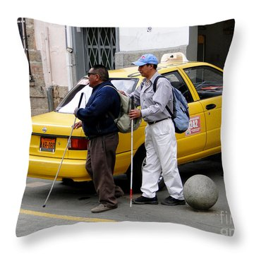 The Blind Leading The Blind Throw Pillow by Al Bourassa