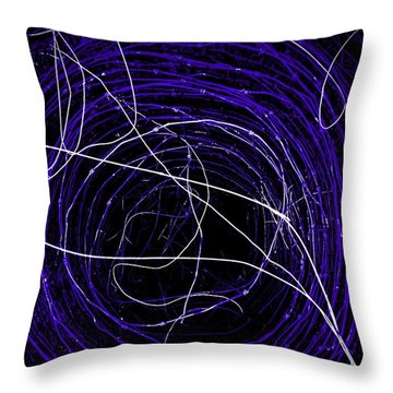 Throw Pillow featuring the photograph The Blue Barb by Amy Sorrell