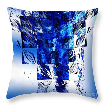 The Blue Chandelier Throw Pillow by Andee Design