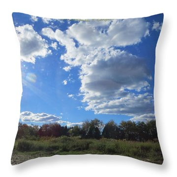 The Blue Element Throw Pillow by Sonali Gangane