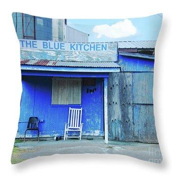 The Blue Kitchen Throw Pillow