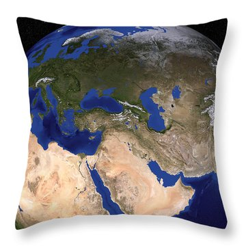 The Blue Marble Next Generation Earth Throw Pillow by Stocktrek Images