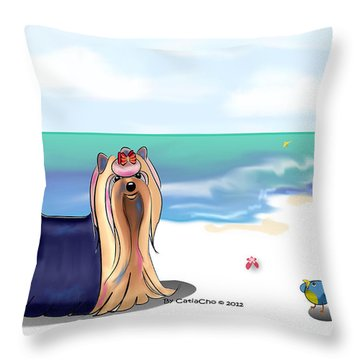 The Blue Prince Throw Pillow
