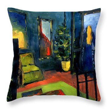 The Blue Room Throw Pillow by Mona Edulesco