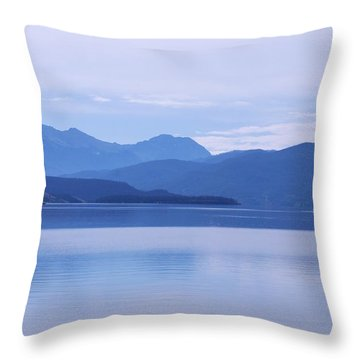 The Blue Shore Throw Pillow