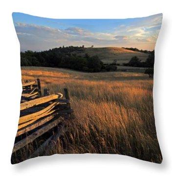 The Bluffs At Doughton Park Blue Ridge Parkway Throw Pillow by John Harmon