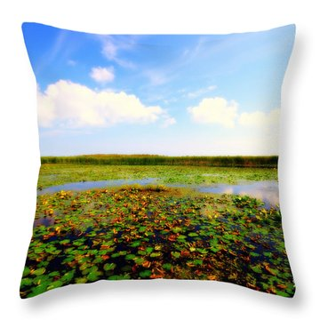The Bog At Point Pelee Throw Pillow
