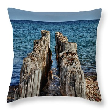 Throw Pillow featuring the photograph The Bones Of Superior by Rachel Cohen