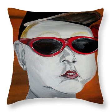 The Boy Throw Pillow by Mark Moore