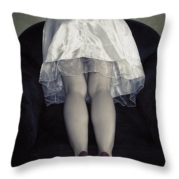 The Bride From Behind Throw Pillow by Joana Kruse