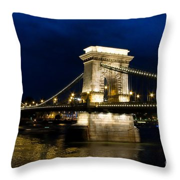 The Bridge Across Throw Pillow by Syed Aqueel