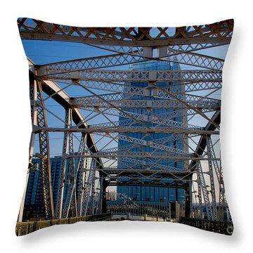 The Bridge In Nashville Throw Pillow by Susanne Van Hulst