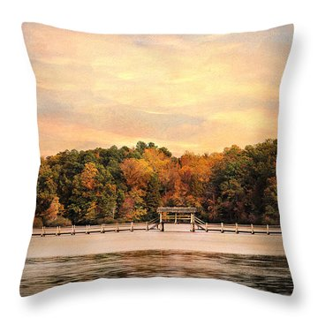 The Bridge Throw Pillow by Jai Johnson