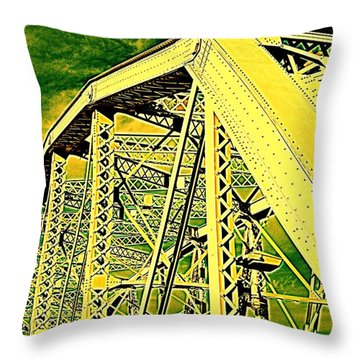 The Bridge To The Skies Throw Pillow by Susanne Van Hulst