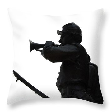 The Bugler Throw Pillow by Cindy Manero