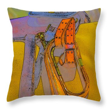 Throw Pillow featuring the photograph The Bugler by Marta Cavazos-Hernandez