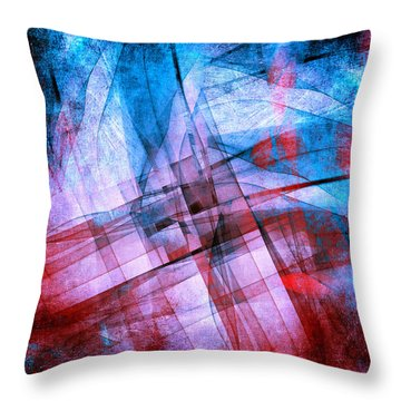 The Building Blocks 2 Throw Pillow by Angelina Vick