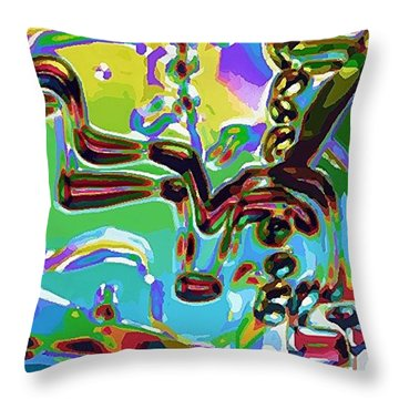 Throw Pillow featuring the digital art The Bull Fighter by Alec Drake