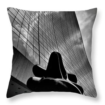 Throw Pillow featuring the photograph The Bull Never Sleeps by Louis Dallara