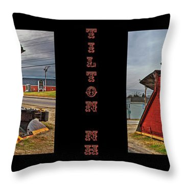 The Caboose Throw Pillow by Joann Vitali