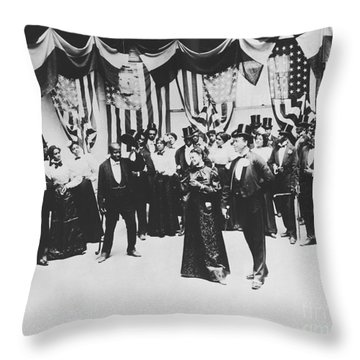 The Cakewalk Throw Pillow by Photo Researchers