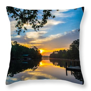 The Calm Place Throw Pillow by Shannon Harrington
