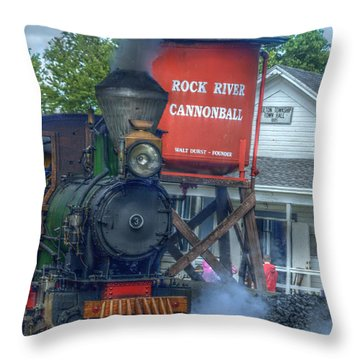 Throw Pillow featuring the photograph The Cannonball Express by Janice Adomeit