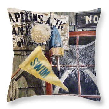 The Captains Attic Sold Throw Pillow
