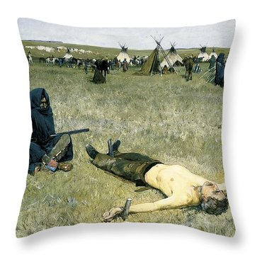 The Captive Throw Pillow by Henry Francois Farny