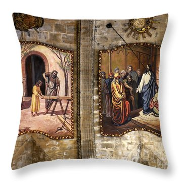 The Carpenters Son Throw Pillow by John Chatterley