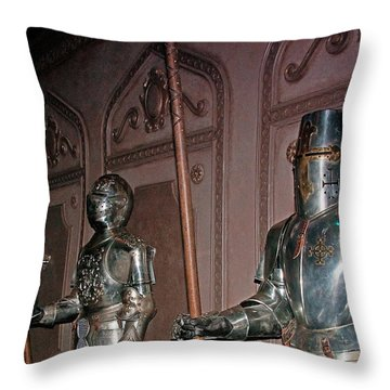 The Castle Guards Throw Pillow by John Black