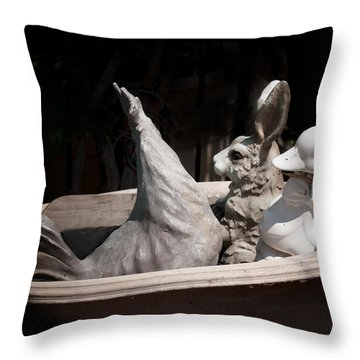 The Castways Throw Pillow by Diane Wood
