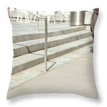 The Casual Strut Throw Pillow by Karol Livote