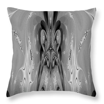 The Cave Dweller Throw Pillow by Maria Urso