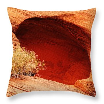 The Cave Throw Pillow by Vivian Christopher