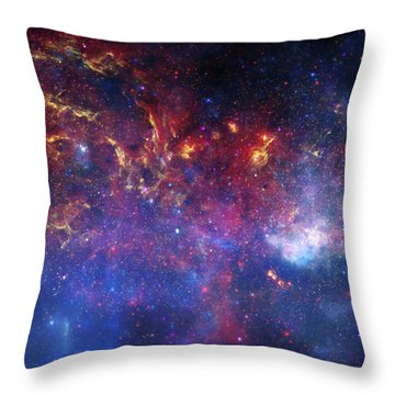 The Central Region Of The Milky Way Throw Pillow by Stocktrek Images