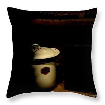 Throw Pillow featuring the photograph The Chamber Pot by Newel Hunter