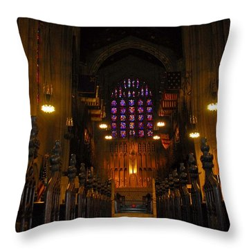 The Chapel At Valley Forge Park Throw Pillow by Cindy Manero