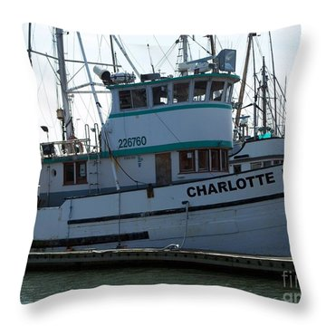 The Charlotte B Throw Pillow