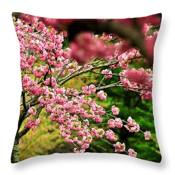 The Cherry Orchard Throw Pillow by Rebecca Sherman