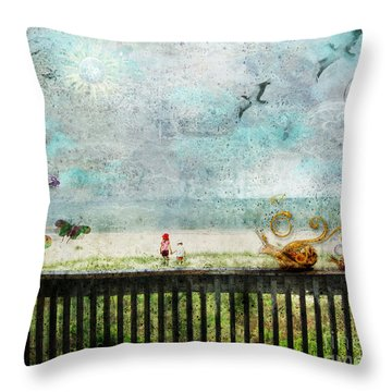 The Child In Us Throw Pillow